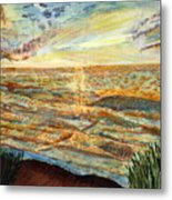 Sunset On The Great Sea. Metal Print