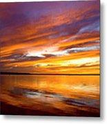 Sunset On The Harbor Metal Print