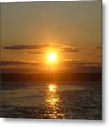 Sunset On The Horizon  6 Metal Print