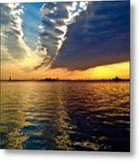Sunset On The Hudson 03 New York Metal Print