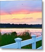 Sunset On The Indian River Metal Print