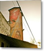 Sunset On The Mill Metal Print by Sheep McTavish