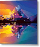 Sunset On The Mountains Metal Print
