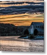 Sunset on The Old Stone Church Metal Print