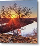 Sunset On The Osage River Metal Print