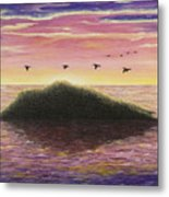 Sunset On The Pacific Metal Print