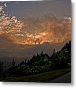 Sunset On The Parkway Metal Print