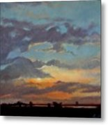 Sunset On The Prarie Metal Print