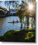 Sunset On The River - Seville  Metal Print