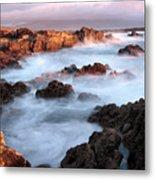 Sunset On The Rugged Coastline Of Kerry Ireland Metal Print