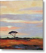 Sunset On The Serengheti Metal Print