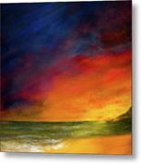 Sunset On The Shore Metal Print