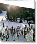 Sunset On The Slopes Metal Print