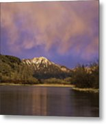 Sunset On The Snake River Metal Print