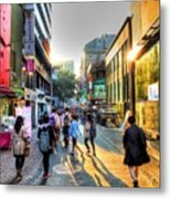 Sunset On The Streets Of Seoul Metal Print
