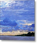Sunset On The Volga. Gorodets Metal Print