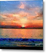 Sunset On The Water Metal Print