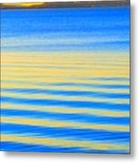 Sunset On Waves Metal Print