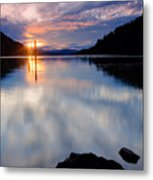 Sunset On Wolf Lodge Bay Metal Print