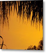 Sunset Orange After Storm Metal Print
