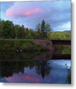 Sunset Over Amoonoosuc River Metal Print