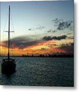 Sunset Over Anegada Metal Print