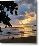 Sunset Over Ao Nang Beach Thailand Metal Print
