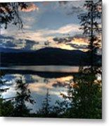 Sunset Over Arrow Lake Metal Print