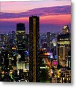 Sunset Over Bangkok Metal Print