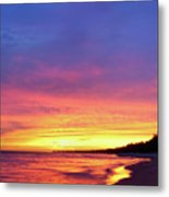 Sunset Over Beach Metal Print