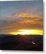 Sunset Over Black Canyon And River #1 Metal Print