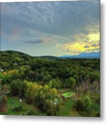 Sunset Over Blue Hill Metal Print