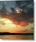 Sunset Over Bridgeport Lake Metal Print