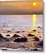 Sunset Over Cara Metal Print