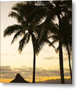 Sunset Over Chinamans Hat Metal Print