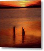 Sunset Over Currituck Sound Ap Metal Print