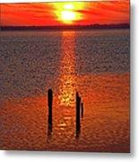 Sunset Over Currituck Sound Metal Print