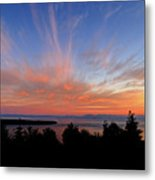Sunset Over Cypress Metal Print