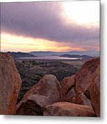 Sunset Over Diamond Valley Lake Metal Print by Glenn McCarthy Art and Photography