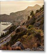 Sunset Over Dubrovnik Metal Print