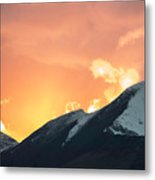 Sunset Over Grisedale Pike And The Coledale Horsehoe, Lake Distr Metal Print