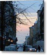 Sunset Over Helsinki Metal Print