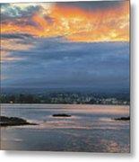 Sunset Over Hilo Metal Print