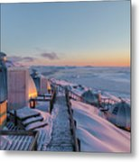 sunset over Igloos - Greenland Metal Print