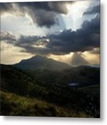 Sunset over Indian Springs Metal Print