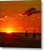 Sunset Over Indiana Dunes Metal Print