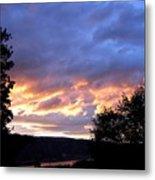 Sunset Over Kalamalka Metal Print