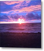 Sunset Over Lake Erie Metal Print