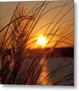 Sunset Over Lake Wylie Sc Metal Print