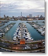 Sunset Over Marina Metal Print